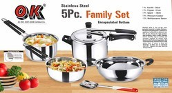 Stainless Steel 5 Pcs Family Set