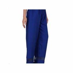 Ladies Royal Blue Palazzo Pants