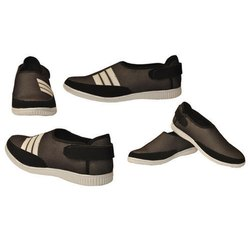 Casual Wear Mens Black Mesh Shoes, 6-10