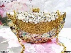 Stylish Brass Clutch Bag