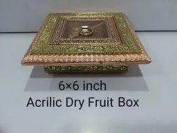 6x6 Inch Acrylic Dry Fruit Box