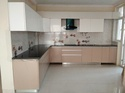 L Shaped Wooden Modular Kitchen