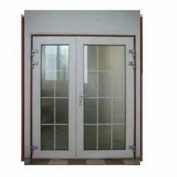 Hinged Toughened Glass UPVC Designer Door, 5- 10 Mm