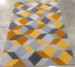Plain or Designs Rectangular Tufted Carpets, For Home