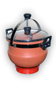 Earthen Clay Cooker (Glass Lid) 5 Liter