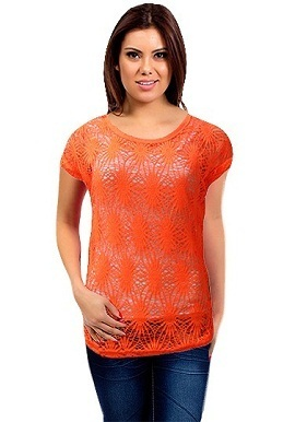 Orange Crochet Top