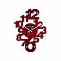 Scientific Designer Wooden Glass Clock, Sg-034