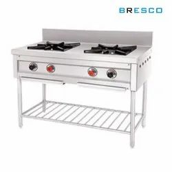 Stainless Steel LPG Commercial Two Burner Gas Range