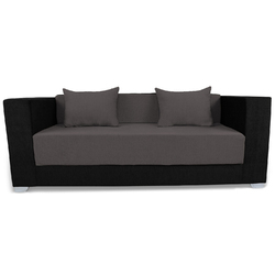 Adorn India Almond 3 Seater Sofa Cum Bed ( Grey & Black)