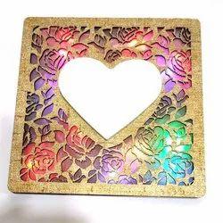 Plastic Heart Shape Photo Frame, Size: 5 X 5 Inch