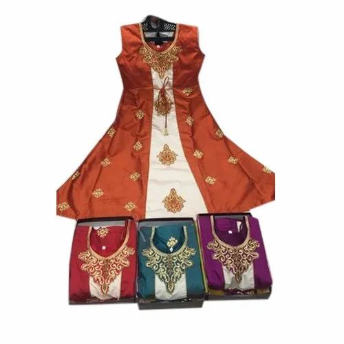 Kids Party Wear Gown, Packaging Type: Packet