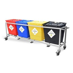 30L Bio Medical Waste Trolley