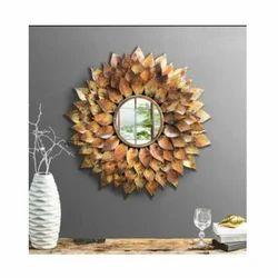 Iron Designer Wall Mirror, Size: 30 inch