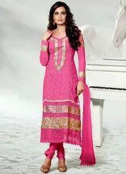 Ladies Semi-Stitched Embroidered Salwar Kameez