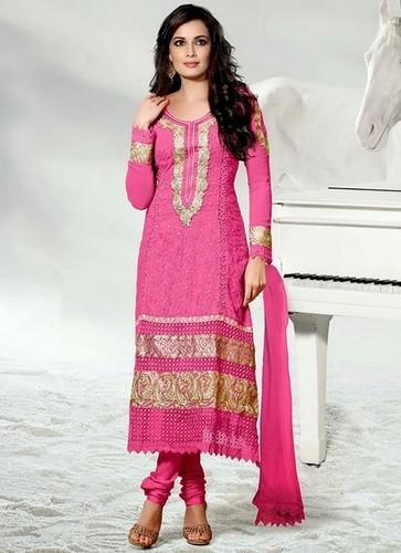 Ladies Semi-Stitched Embroidered Salwar Kameez