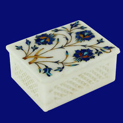 Handcrafted Marble Inlay Box