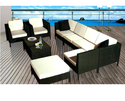 Garden Rattan Patio Sofa Set