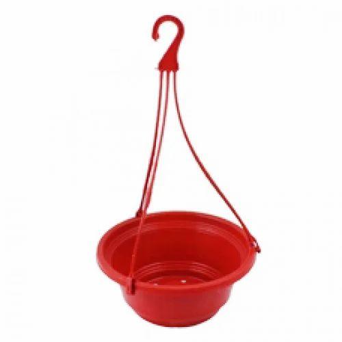 Red Hanging Planter