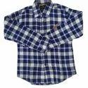 Regular Wear Kids Check Full Sleeves Cotton Shirt