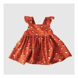 100% Cotton Printed Baby Girl Dress