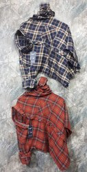 Full Sleeves Cotton Mens Casual Check Shirt