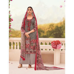 Casual Wear Designer Printed Semi Stitched Suit