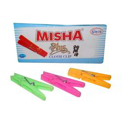 Multicolor Plastic Cloth Clips - Misha Plus