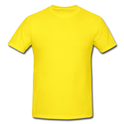 Cotton Plain Yellow Round Neck Casual Half Sleeves T Shirt