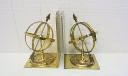 Brass Original Armillary Sphere Bookends