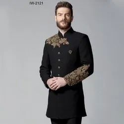 Diwan Saheb IW-2121 Black Embroidered Indo Western