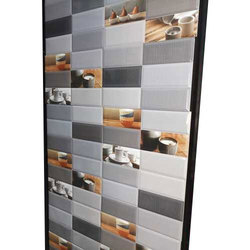 White Grey Ceramic Printed Kitchen Wall Tiles 8 10 Mm Rs 380 Box Id 20230862691