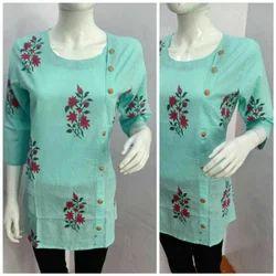 Multicolor Casual Wear Ladies Cotton Kurti