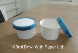 180 ML Bowl With Paper Lid