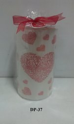 DP-37 Valentine Pillar Candles (3 X 5) (1 PC / PKT)