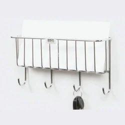 Stainless Steel Key & Letter Holder, Length : 11 inch