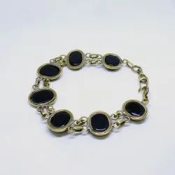 Sulemani Akik Hakik Bracelet for Protection and Evil Eye in Pancha Dhatu
