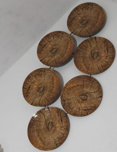 Brown Wood Round Wall Decor For Home, Round Wall Decor Wood