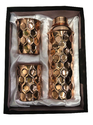 Copper Gift Set Diamond Fanta Bottle With 2 Glass