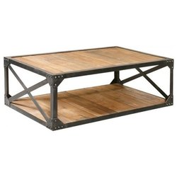 Red Iron Coffee Table for Home