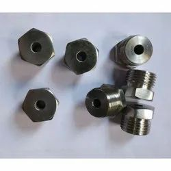 SS Hex Bush With Through Hole For Thermocouple, Size: 1/8 to 2 Inch, for Industrial