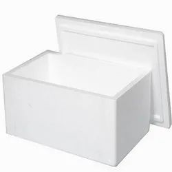 White Plain Thermocol Ice Boxes, Thickness: 6-12 Mm, Capacity: 10-15 Kg