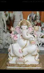 Divine Ganesha Marble Statue