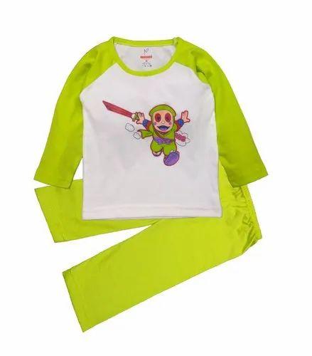 Baby Boy's Ninja Contrast T-Shirt With Full Pant