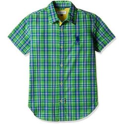 Casual Wear Kids Cotton Check Shirt, Age: 3-12 Years
