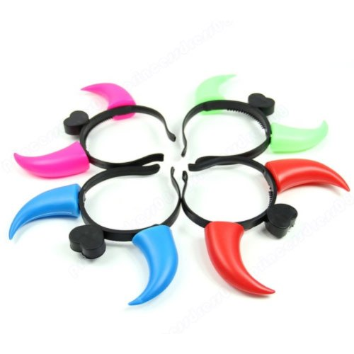 Creator Plastic LED Glow Horns, Size/Dimension: 4 To 5 Inches, For In Party