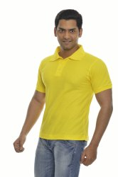 Mens Polo Yellow T-Shirts