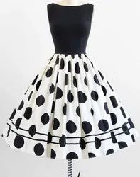 Black n White Printed Frock