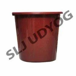 Red Plastic Dustbin