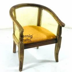 Kernig Krafts Hand Made Wooden Indian Netting Chair With Hand Rest