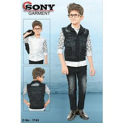 Zipper Kids Casual Wear Denim Jacket